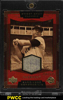 2004 Upper Deck Sweet Spot Classic Mickey Mantle PATCH /275 #SS-MM (PWCC)