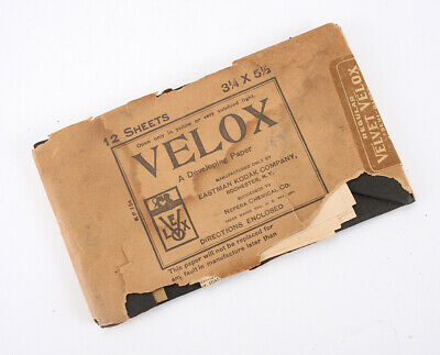 KODAK 3-1/4 X 5-1/2 VELOX PAPER, SOLD FOR PACKAGING ONLY/cks/211096