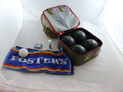 4 x Taylor International Lawn Bowls Size 3 in carrying case