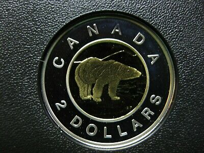 2002 Canadian Silver Proof Toonie ($2.00) *Key Date*  Double-Date 1952-2002 Tone