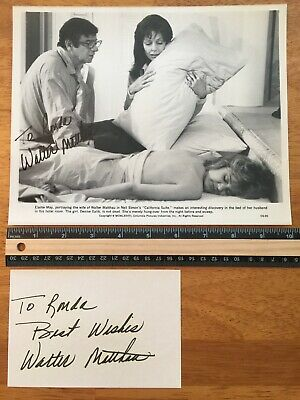 2 Walter Matthau Hand Signed Autograph -A Collectors Must Have
