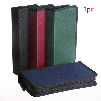 80 Disc CD DVD Carry Case Storage Holder VCD Sleeve Wallet Ideal for In Car Home