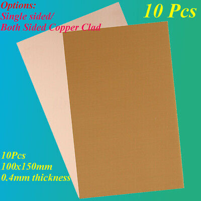 1x Copper Clad Laminate Circuit Boards FR4 PCB Double Side 10cmx12cm 100mmx120mm