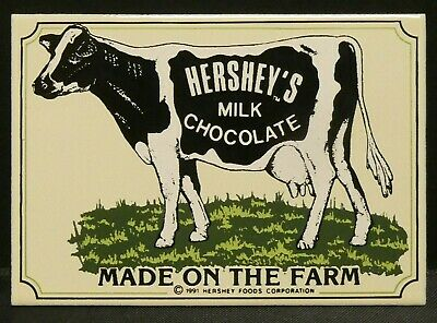 "Dollhouse Miniatures Metal Sign Advertising HERSHEY'S CHOCOLATE 2 1/2"" x 1 5/8"""