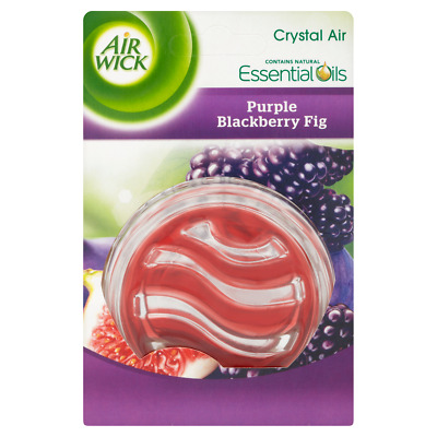 2 x NEW AIR WICK AIRWICK CRYSTAL AIR FRESHENER OILS FRESH PURPLE BLACKBERRY FIG
