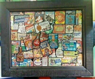 Topps Wacky Packages Vintage Lot In Picture Frame (circa 1991)