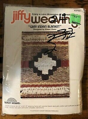 "Jiffy Weaving ""Gray Indian Blanket"" Kit - Unopened"