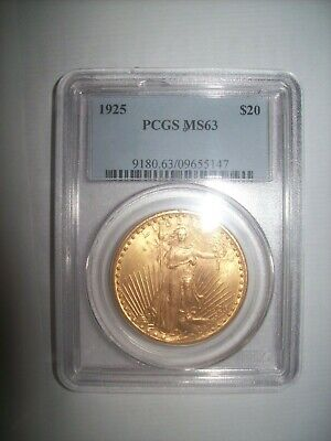 1925 $20 PCGS MS63 - Saint Gaudens Double Eagle - IMO Gold bound to Explode