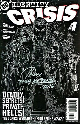 Identity Crisis #1 Black Negative Variant Edition Signed Artist Rags Morales