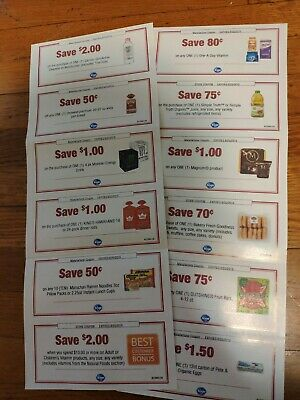 lot of 12 KROGER coupons save up to $19~ exp 08/25 Medschool fundraiser &more