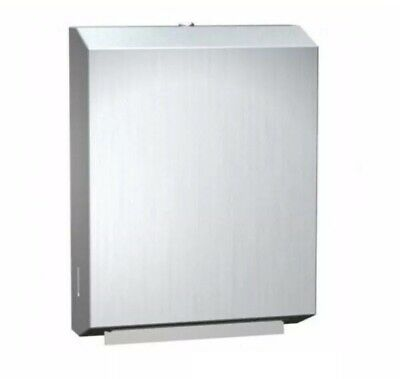 ASI 0210 Paper Towel Dispenser, Surface Mounted, Stainless Steel, C-Fold