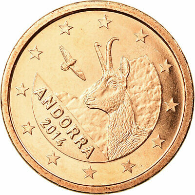 [#731394] Andorra, Euro Cent, 2014, FDC, Copper Plated Steel
