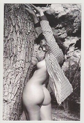Postcard Pinup Risque Nude Stunning Girl Extremely Rare Photo Post Card 9462