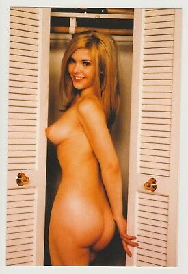 Postcard Pinup Risque Nude Stunning Girl Extremely Rare Photo Post Card 9554