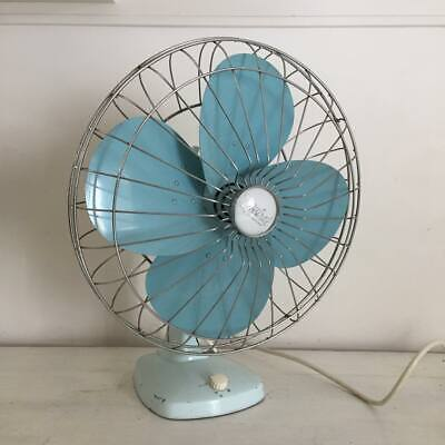 Vintage baby blue Mistral fan, perfect working order