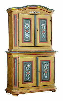19Th Century Swedish Folk Art Painted Cupboard