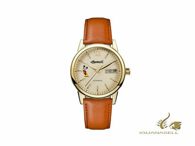 Ingersoll Union New Haven Disney Lady Automatic Watch - Beige - brown strap
