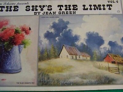 The Sky's The Limit V4 Jean Green 1986 Scheewe Oil Landscapes Tole Paint Book