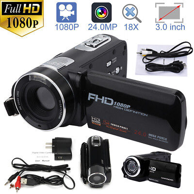 "HD 1080P 24MP 3""LCD 16X ZOOM Night Vision Digital Video DV Camera Camcorder New"