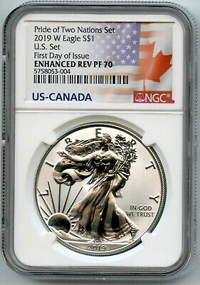 2019 W American Eagle S $1  Ngc Rev Pf70 First Day Of Issue 5758053-004