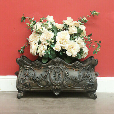 Antique Pot Plant Planter, French Cast Iron, Jardiniere, Garden Plant Stand Box