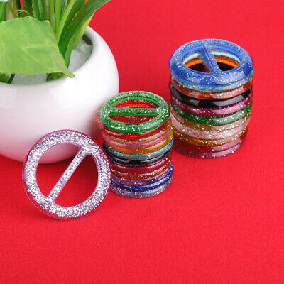 8pcs Round Buckle Resin Color Buckles Clip Ring for Scarf Clothes Hats Tee Shirt
