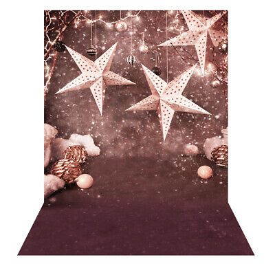 Andoer 1.5 * 2m Photography Background Backdrop Christmas Gift Star Pattern P8R8