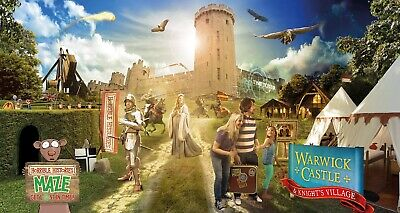 4 x Warwick Castle Tickets - Saturday 7th September 2019 - Full Day Entry