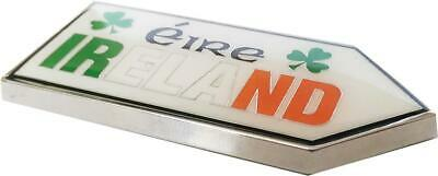 """IRELAND Tricolour Road Sign style Quality Metal Fridge Magnet - 65mm = 2.6"""" inch"""