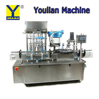 YTSP500-2P Automatic 4 heads Tomato Sauce Filling&Capping 2 in 1 Rotary Machine