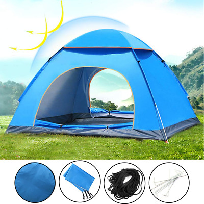 4 Person Family Tent Instant Automatic pop-up Folding Waterproof Camping Outdoor