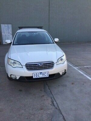 2006 SUBARU OUTBACK AWD WHITE WAGON GOOD-VG COND  RWC/ REGO (Vic),(1OZ9CI),