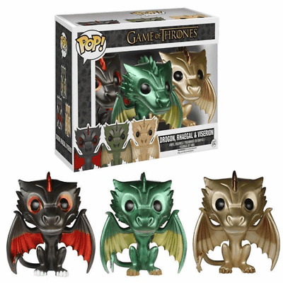 FUNKO POP Game of Thrones DRAGONS <<DROGON,RHAEGHAL&VISERION>> ALL in ONE box !