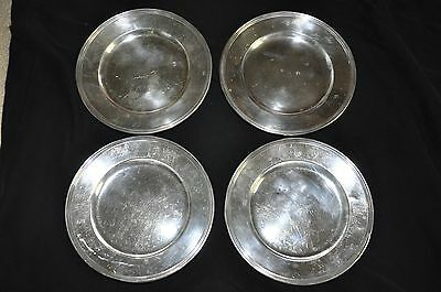F.S. CO Sterling Silver Dessert Plates Set of 4 Four 295g