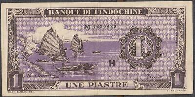 French Indochina 1 Piastre Banknote P-60 ND 1942