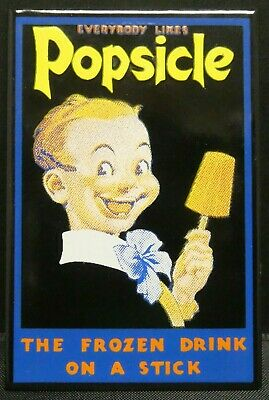 "Dollhouse Miniatures Metal Sign Advertising POPSICLE KID 1 5/8"" x 2 1/2"""