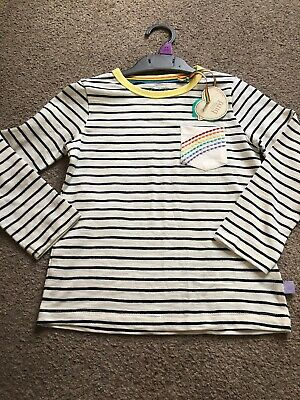 Little Bird By Jools Oliver Stripe Raglan 3-4 Rainbow Pocket