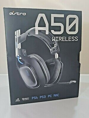 Astro A50 Ear-Cup Wireless Headset - Black/Blue PS4 PS3 PC MAC