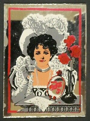"Dollhouse Miniatures Mirror Sign Advertising COCA COLA COKE GIRL 1 5/8"" x 2 1/4"""
