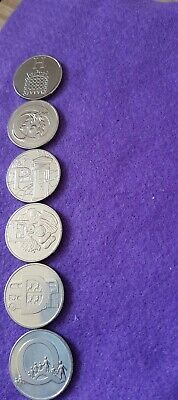 10p Alphabet  coins 2019 x 6  Uncirculated