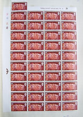 GB 1970 Commonwealth Games 1/9 stamps 'Cycling' SG 834, block of 40 (4x10), MNH