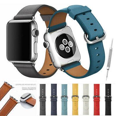 40/44mm Luxury Leather For Apple iWatch Strap Watch Band Series 4 3 2 1 38/42mm