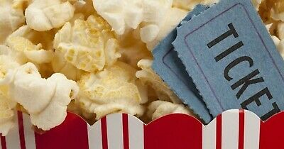 Qty: 1 Gift Certificates for AMC Theaters Black MOVIE TICKET and 1 Large POPCORN
