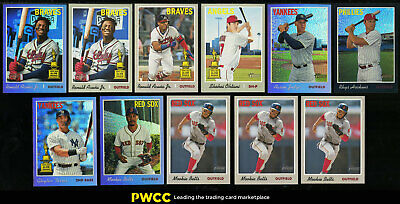 Lot(11) 2019 Topps Heritage + Chrome Refractor w/ Acuna Ohtani Judge Betts PWCC