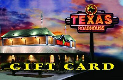 2 Texas Roadhouse $50 Gift Cards $100 total FREE SHIPPING