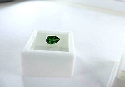 Superior Quality Pear Cut Russian Chrome Diopside 1.00ct faceted by me :)
