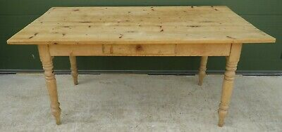 Solid Pine Farmhouse Kitchen Dining Table Reclaimed Wood Antique Style (l:160cm)