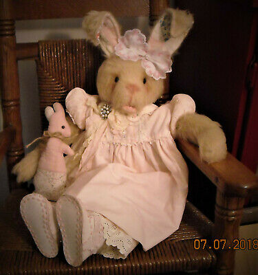 "Vintage Shabby  Chic Pouting Bunny Rabbit 24"" ""Treasures Remembered Primitives"""