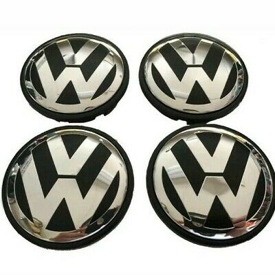 ALLOY WHEEL CENTRE  CAPS 65mm Fits GOLF , POLO , PASSAT,  TIGUAN,  TOURAN,  X4
