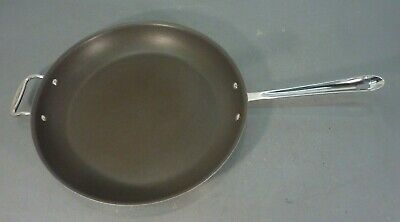 "14"" All-Clad Stainless Steel Nonstick Frying Pan Skillet Fry Saute Sauce Large"